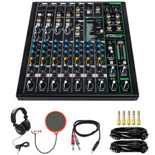 Mackie 10 Channel Professional Effects Mixer with Tascam Headphones Bundle