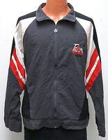 vtg TEAM ADIDAS Charcoal Windbreaker L/XL 80s/90s Jacket trefoil gray red black