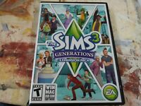 The Sims 3 Generations PC Game Complete 2011 Expansion Super Clean