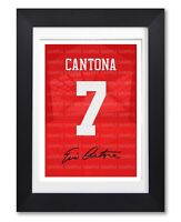 ERIC CANTONA MANCHESTER UNITED SIGNED POSTER PRINT PHOTO AUTOGRAPH SHIRT GIFT
