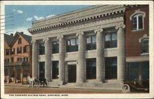 Gardner Ma Savings Bank c1920 Postcard
