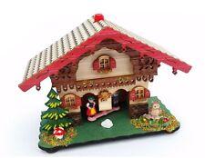 Edles Wetterhäuschen Wetterhaus aus Holz Holzhaus Thermometer NEU