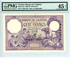 Tunisia ... P-10c ... 100 Francs ... 27-12-1938 ... *XF-AU* ... PMG 45