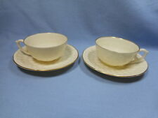 Set of 2 Lenox Demitasse Cup and Saucer Reproduction of First Piece