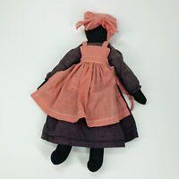 Folk Art African Black Americana Cloth Rag Doll HANDMADE Primitive Look (E3)
