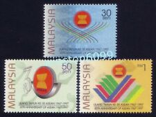 1997 Malaysia 30th Anniversary of ASEAN 3v Stamps Mint Never Hinged