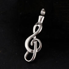 Stainless Steel Music Note Cremation Urn Memorial Charm Pendant DIY Necklace