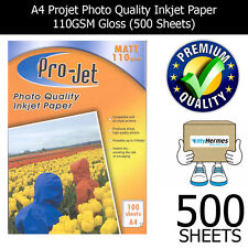 500 SHEETS OF INSTANT DRY MATT A4 WHITE PHOTO PAPER 110GSM PROJET FOR INKJET