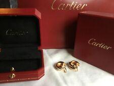 Original Cartier Creolen Trinity Ohringe 18K Gold