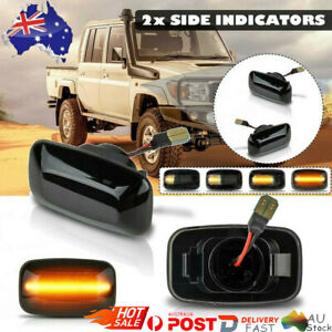 2 PCS SIDE REPEATERS LIGHTS For Toyota Land Cruiser 70 80 100 Series INDICATORS