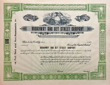 Broadway and Dey Street Company > New York real estate stock certificate share