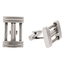 Stainless STEEL Wire Cable Cufflinks Cuff Links NEW L