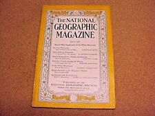 National Geographic July 1937 Wisconsin Wasps & Hornets White Mt. Bird of Prey
