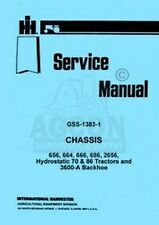 International Farmall 656 664 666 Hydro 70 86 Tractor Chassis Service Manual IH