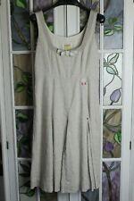 Noa Noa Dress & Lined Coat Wedding Outfit Suit Buff La Scala Linen S/M