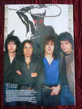 """DIO -  """" PULL-OUT MAGAZINE CENTRE PAGE POSTER """" - METAL"""