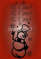 LET IT SNOW CHRISTMAS Vinyl Wall Saying Lettering Quote Deco Decal Sign Craft