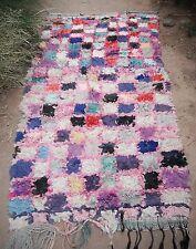 Vintage moroccan boucherouite rag rug - contemporary design 220 x 100cm