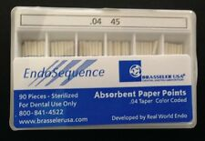 1 New Pack Of Brasseler Endosequence Paper Points Size 45 Taper 04