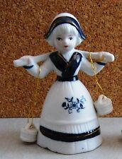 Vintage Ceramic/Porcelain German Lady Bell W/ Buckets Clappers