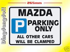 Mazda Parking Sign Novelty Gift 323 626 MX-5 MX5 Eunos