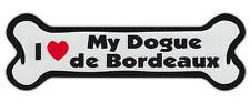 Dog Bone Shaped Car Magnets: I Love My Dogue De Bordeaux