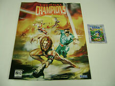 Eternal Champions Sega Genesis Game Insert Poster Only 21 x 17in