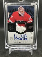 2013-14 UPPER DECK THE CUP #105 PETR MRAZEK ROOKIE PATCH AUTO /249 WINGS CANES