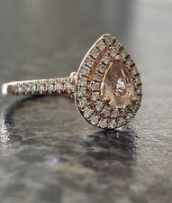 Michael Hill Rose Gold Morganite Diamond Double Halo Ring