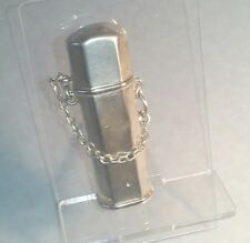Sampson Mordan 1909 Silver oblong box on chain gold lined possibly pill box