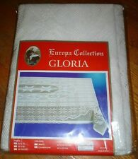 NIP Vintage Europa Collection Gloria White Crochet Lace Table Cloth 52 x 72