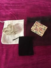 Three Jewelry Pouches Plus Two Small Jewelry Boxes Drawstring