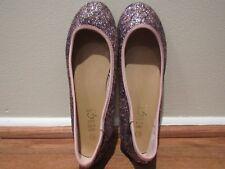 Women Fashion Glitter Dress Flat Shoes Sequin Cute Design New Style 8.5-New!!