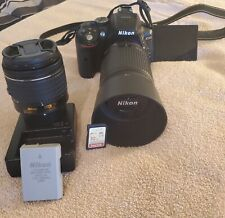 Nikon D5300 Digital SLR Camera 18-55mm and 55-200mm lenses Excellent.