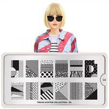 MoYou London TREND HUNTER 4 Collection Stamping Schablone Streifen Punkte XL