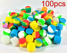 100pcs 2ml Silicone Container Jar Non-Stick Mixed colors Round Wholesale lot