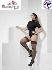 Plus Size Fishnet Hold Ups lace tops with silicone black hens night sexy
