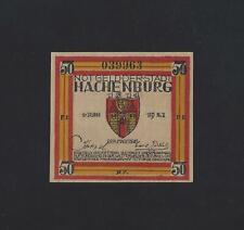 Germany -  Hachenburg  50 Pfennig 1921 UNC