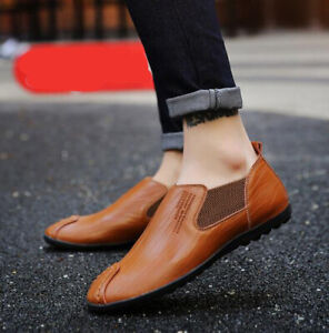 Men's Shoes Fashion Fsux Leather Casual Shoes Comfortable Non-Slip Waterproof