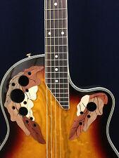 "41"" Caraya Round Back Electro-Acoustic Guitar,Cutaway+Free Gig Bag.SP-723CEQ/BS"