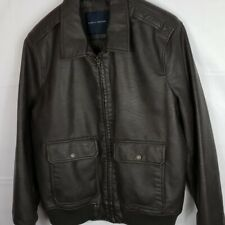 $195 Tommy Hilfiger Brown Winter Casual Faux Leather...