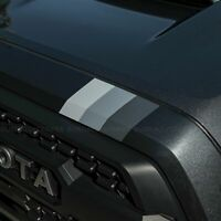 TRD race truck monochrome racing stripes fits Toyota Tacoma 2016 2020 3M sticker