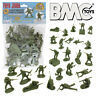 BMC WW2 IWO JIMA US Marines Plastic Army Men 36 American Soldier Figures 1:32