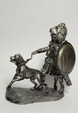 Tin soldier, figure. Carthaginian Veteran, with a dog 54 mm