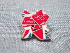LONDON 2012 OLYMPIC GAMES, RARE COLLECTOR'S BADGE/PIN, UNION JACK (LONDON) LOGO.
