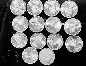 1966 - Canada proof like dimes - Silver - Canadian 10 cent (Lot of 14)