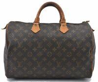 Authentic Louis Vuitton Monogram Speedy 35 Hand Bag M41524 LV B5824
