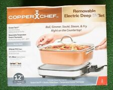 COPPER CHEF 12 x 12 x 3.5 Inch Deep Pan Removable Electric Skillet