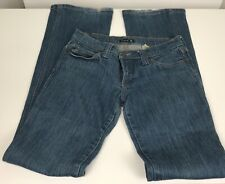 Frankie B Woman's Blue Jeans Size 8 Embroidered Back Pockets