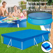 Rectangle/Round S/M/L/XL Protective Swimming Pool Cover Dust Cloth Winter Cover